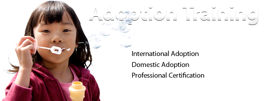 Girl blowing bubbles. Adoption Training for Parents and Professionals. International Adoption. Domestic Adoption. Professional Certification.